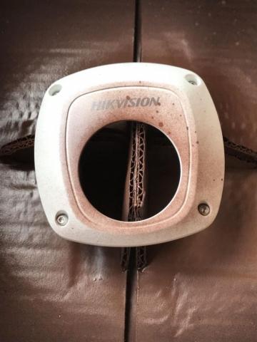 окрашивание камер видеонаблюдения